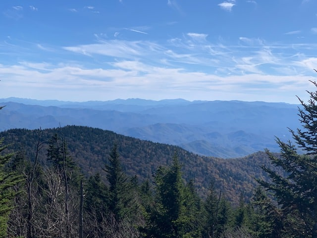 View from atop Clingsman Dome Great Smoky Mountains National Park