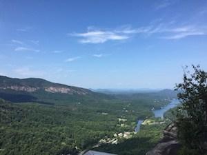 View from Chimney Rock, North Carolina