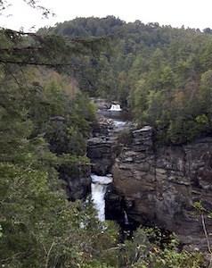 Waterfalls at Linville Gorge, North Carolina